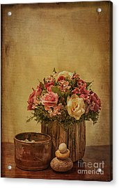 Basket Of Spring Roses Acrylic Print