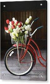 Basket Of Tulips Acrylic Print