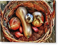Basket Of Vegetables Acrylic Print by Sharon Beth