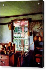 Acrylic Print featuring the photograph Basket Shop by Susan Savad