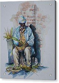 Basket Weaver Acrylic Print