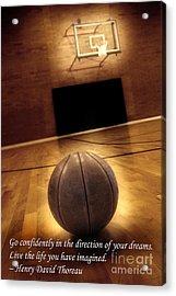 Basketball And Success Acrylic Print by Lane Erickson