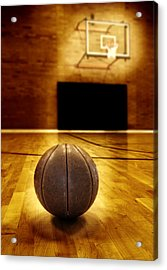 Basketball Court Competition Acrylic Print by Lane Erickson