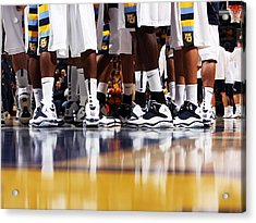 Basketball Court Reflections Acrylic Print by Replay Photos