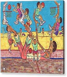 Basketball Daycare Acrylic Print by Richard Hockett