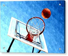 Basketball Hoop And Ball 1 Acrylic Print by Lanjee Chee