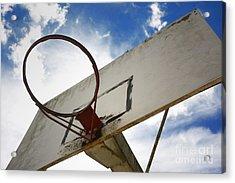 Basketball Hoop Acrylic Print by Bernard Jaubert