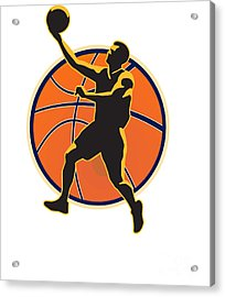 Basketball Player Lay Up Ball Acrylic Print by Aloysius Patrimonio