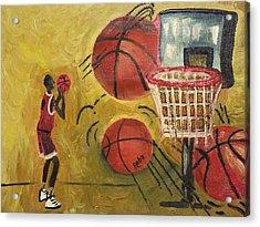 Basketball Acrylic Print by Reba Baptist