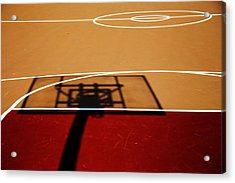 Basketball Shadows Acrylic Print by Karol Livote