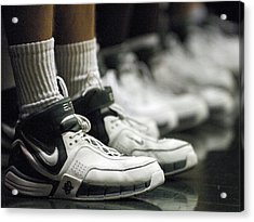Basketball Shoes In A Row Acrylic Print by Replay Photos