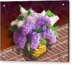 Basketful Of Lilacs Acrylic Print