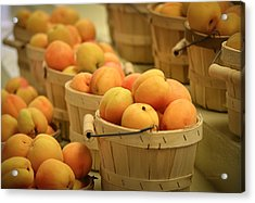 Baskets Of Apricots Acrylic Print by Julie Palencia