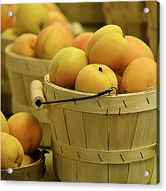 Baskets Of Apricots Squared Acrylic Print by Julie Palencia