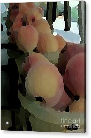 Baskets Of Peaches Acrylic Print