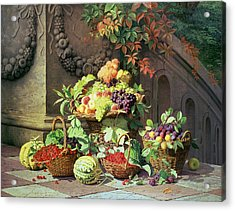 Baskets Of Summer Fruits Acrylic Print