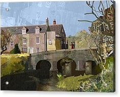 Baslow Bridge Acrylic Print by Kenneth North