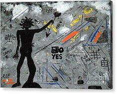 Basquiat Rest In Peace - Tribute Number 7 Acrylic Print by Scott Haley