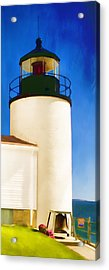 Bass Harbor Head Lighthouse Maine Acrylic Print by Carol Leigh