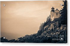 Bass Harbor Light House Mount Desert Island Maine Acrylic Print by Edward Fielding
