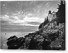 Bass Harbor Lighthouse At Dusk Acrylic Print by Diane Diederich