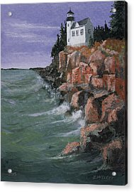 Bass Harbor Lighthouse Acrylic Print by Jerry McElroy
