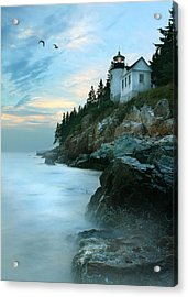 Bass Harbor Lighthouse Acrylic Print by Lori Deiter