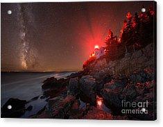 Bass Harbor Lighthouse Milky Way Acrylic Print