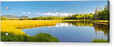Bass Harbor Marsh Panorama Acadia National Park Photograph Acrylic Print