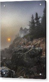 Bass Harbor Mist Acrylic Print