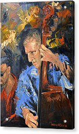 Bass Man Acrylic Print by Anthony Falbo