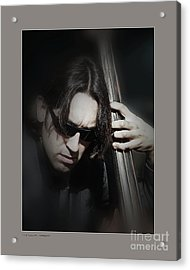 Acrylic Print featuring the photograph Bass Player by Pedro L Gili