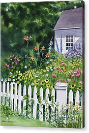 Bass River Cottage Acrylic Print by Karol Wyckoff
