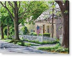 Bass River Homes Acrylic Print by Karol Wyckoff