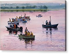 Bass River Scallopers Acrylic Print by Karol Wyckoff