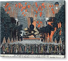 Bastille Day 1801 Acrylic Print by Photo Researchers