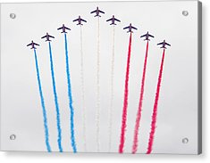 Bastille Day Air Show At The Champs-elysees Acrylic Print