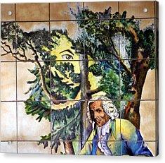 Bastille Metro No 4 Acrylic Print by A Morddel