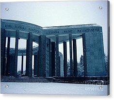 Acrylic Print featuring the photograph Bastogne Liberation Memorial by Deborah Smolinske