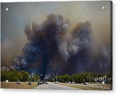 Bastrop Burning Car Explosion Acrylic Print