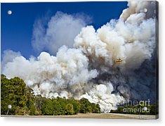 Bastrop Burning Helicopter Acrylic Print
