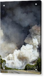 Bastrop Wildfire Crosses Hwy 71 Acrylic Print