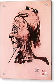 Acrylic Print featuring the drawing Basu Sennin by Roberto Prusso
