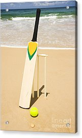 Bat Ball And Stumps Acrylic Print by Jorgo Photography - Wall Art Gallery