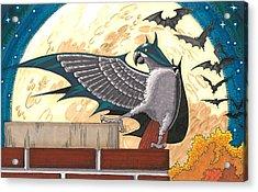 Bat Bird Acrylic Print by Drisdan