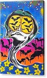 Bat Country Acrylic Print by Victor Cavalera