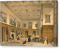 Bat Game In The Grand Hall, Parham Acrylic Print by Joseph Nash
