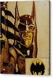 Acrylic Print featuring the mixed media Bat Man by Dan Wagner