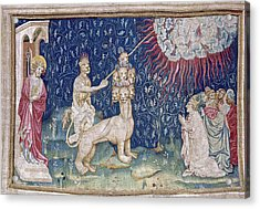 Bataille, Nicolas 14th C.. He Beast Acrylic Print by Everett