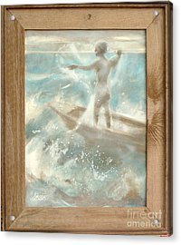 Acrylic Print featuring the painting Bateau by Gertrude Palmer